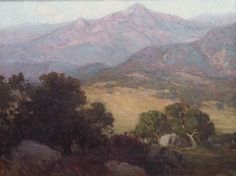 "Edgar Alwin Payne (1883-1947) - Southern California Landscape. Oil on Canvas. California. Circa 1920. 18"" x 24""."