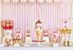Ice cream shoppe party: Jasmin is 4!   Chickabug