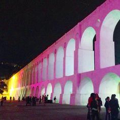 The Arches of Lapa, Rio de Janeiro, Brazil.  #Lapa #Rio #RiodeJaneiro #Brazil #SaoPauloState #travel #trip #adventure #colours #lightsatnight