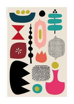 Discover recipes, home ideas, style inspiration and other ideas to try. Mid Century Modern Art, Mid Century Art, Mid Century Design, Modern Prints, Mid-century Modern, Art Minimaliste, Minimal Art, Art Moderne, Canvas Art Prints