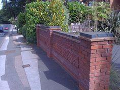 decorative brick ideas for our garden wall