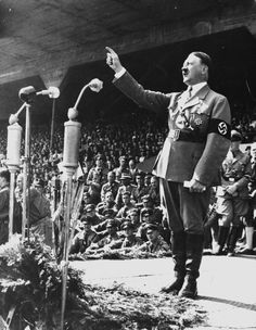 """Already highly effective at speaking to large audiences, Hitler gave a speech to a crowd of more than 6,000 people in Feb. of 1921. Hitler quickly gained popularity for his speeches against the Treaty of Versailles and especially against Marxists and Jews. By June, Hitler would take over as party chairman by a nearly unanimous vote. Two years later, Hitler would begin his """"Beer Hall Putsch"""" where he would attempt to seize power in Munich with 2,000 men but eventually failed and was arrested."""