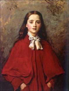 """Bright Eyes"" -- by John Everett Millais"