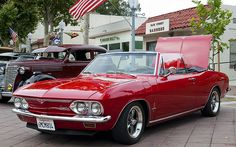 1967 Chevrolet Corvair Monza Convertible - Bolero Red - fvl --- Historic Main Street 093
