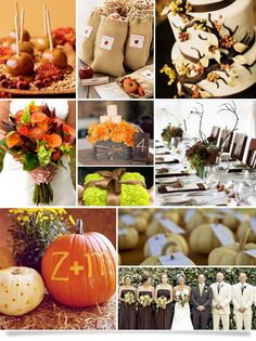 I've never entertained the idea of a Fall wedding but they are beautiful! I could definitely see that happening!