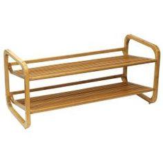 Oceanstar Two-Tier Slatted-Shelf Bamboo Shoe Rack | Overstock.com Shopping - The Best Prices on Oceanstar Garment Racks & Hangers