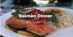 #SeekAdventure with a Sunset Salmon Dinner by @giggobgulp
