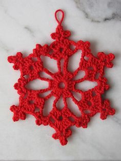 Ravelry: Open Chain Loop Snowflake pattern by Better Homes and Gardens