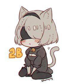 Pixiv | HN Anime Chibi, Kawaii Anime, Anime Manga, Anime Art, Neko, Rwby, Nier Characters, Alita Battle Angel Manga, Character Art