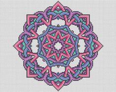 Mandala de espectro patrón cruz puntada tabla  punto de Cruz