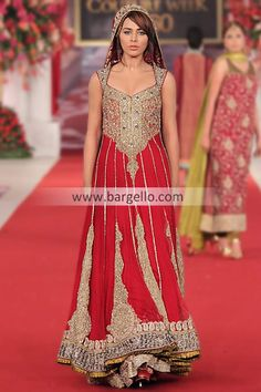 D4579 Red Bridal Collection by Pakistani Designer Mehdi at Bridal Couture Week 2013 Burton upon Trent UK Bridal Wear