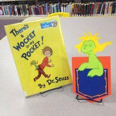 Dr. Seuss, Wocket in my Pocket, sewing skills, yarn, toddler craft
