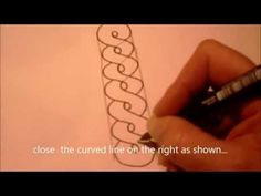How to draw tanglepattern Annee - YouTube