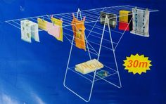 NEW FOLDING 30M CLOTH CLOTHES AIRER DRYER HORSE RACK INDOOR OUTDOOR LAUNDRY