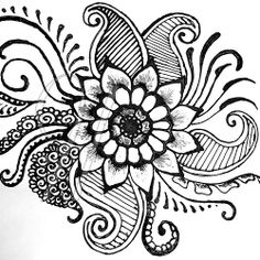 paisley thigh tattoo | Paisley Flower Doodle Vector Illustration Frame Border Design Element ...