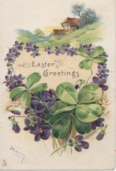 Happy Easter - Vintage Post Card 1907