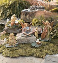 Fairy Garden Statues, set of 5