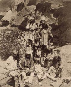 Paiute Men and Boys in Traditional Buckskin Costumes, Kanab, Utah, 1873 - John K. Hillers (1843-1925)