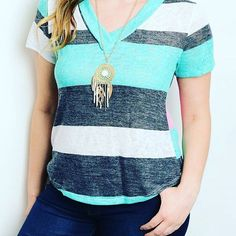My favorite shirt right now. Perfect for summer! $15.90 shipped. #trendy #momstyle #fashion #summerfashion #plussize