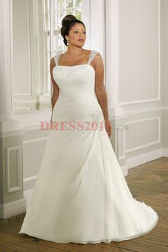 Plus Size Wedding Dresses 2013, I like how with this one, you can't see her cleavage