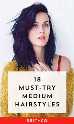 feb3e03de9 Bookmark this to get hairstyle inspo for your medium-length haircut. Hair  Lengths