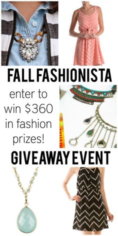 Win Fashion Giveaway!  Ends 10/17