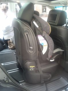 A second-row seat that slides enough to let a third-row passenger scoot to the back -- while keeping a car seat perfectly latched! Mom loves this!