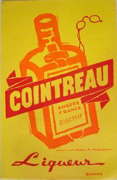 Mercier Cointreau by Galerie Montmartre, Pub Vintage, Vintage Labels, Vintage Ephemera, Vintage Posters, Vintage Food, Poster Ads, Typography, Lettering, Poster