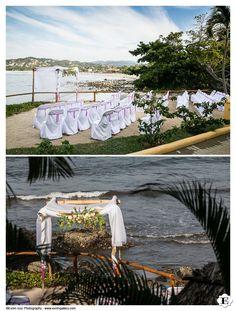 Wedding ceremony set up at La Gran Villa - Villa Amor wedding venue- Sayulita, Mexico