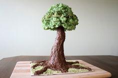 Sculpted Tree Cake Tutorial - Tutorial - Cake Central