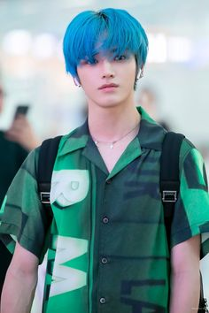 LEADER TAEYONG DAY 💚 People just can't accept how talented and beautiful taeyong is. Issok at least we are all here to support him as always 😜 Lucas Nct, Nct Taeyong, Winwin, Jaehyun, Nct 127, Ocean Hair, Half Dyed Hair, Ntc Dream, Yuta