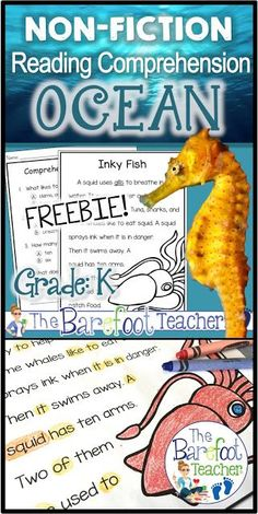 This FREE ocean reading comprehension activities download will go great with the other ideas, lesson plans, and crafts you have planned for your Kindergarten or First Grade students!