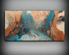 Afbeeldingsresultaat voor blue, copper painting