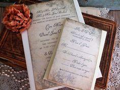Vintage Romantic Wedding Invitation Suite by AVintageObsession, $85.00