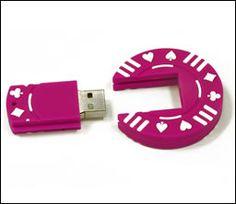 Pink poker chip USB