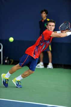 Tim Smyczek (USA) plays Bobby Reynolds (USA) in the first round at the 2012 US Open. - Andrew Ong/USTA