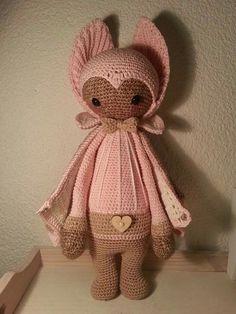 VLAD the vampire bat made by H. / crochet pattern by lalylala