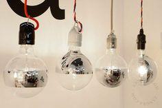 Ampoule avec partie grise