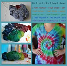 Tie Dye how to!  Gunna try this for Disney, now if only I can figure out how to do a good Mickey Head