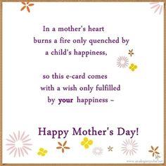 A Mother's Heart burns ...