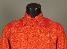 Mens 1970s Shirt  Deadstock India Imports by jauntyrooster on Etsy