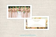 Wedding Photographer Business Cards by theFlyingMuse on @creativemarket