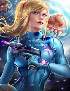 Samus by sakimichan on DeviantArt