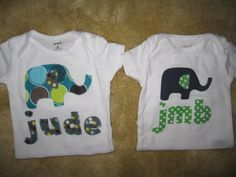 Elephant applique on t-shirt. by WinklesWhimsies on Etsy