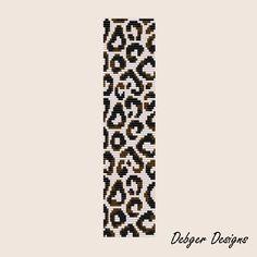 Snow Leopard  Loom Bracelet Cuff Pattern SAVING buy 2  by LoomTomb, $6.50
