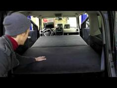 Honda Element Custom Bed for Car Camping - YouTube (6' bed and privacy curtains)