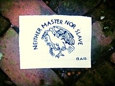 Neither Master Nor Slave // Back Patch // Punk Patch by badbrainn, $5.00