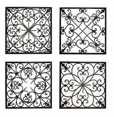 Small Wrought Iron Wall Decor Mesmerizing Look Beyond The Wrought Iron Pattern Pieces Covering The Wall Decorating Design