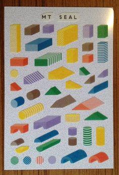 mt washi paper stickers - geometric shapes. $4.50, via Etsy.