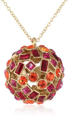 "Kate Spade New York ""Kaleidoball"" Pendant Necklace - Kaleidoball, Kate, Necklace, pendant, Spade, York - http://designerjewelrygalleria.com/kate-spade-new-york/kate-spade-new-york-kaleidoball-pendant-necklace/"